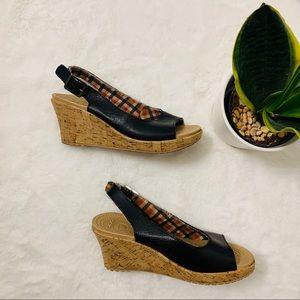 Crocs Cork Wedge Sandals